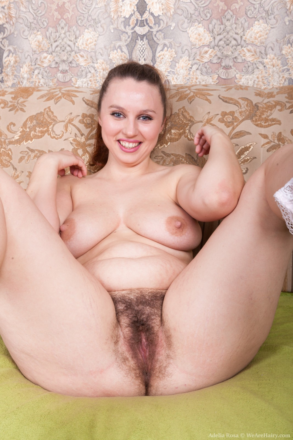 Adelia rosa strips nude on her chair and enjoys it - 3 part 2