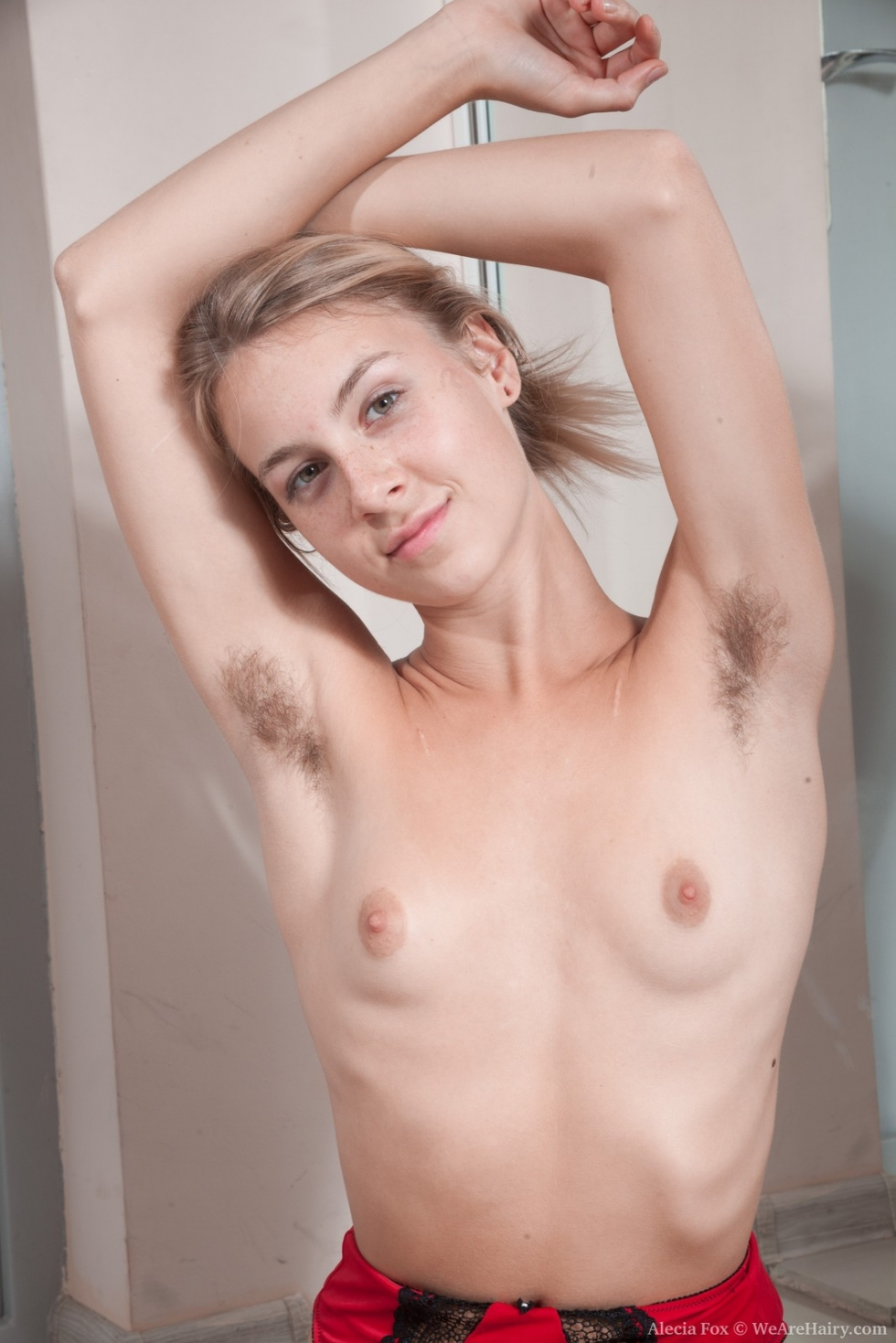 nude slim hairy pits