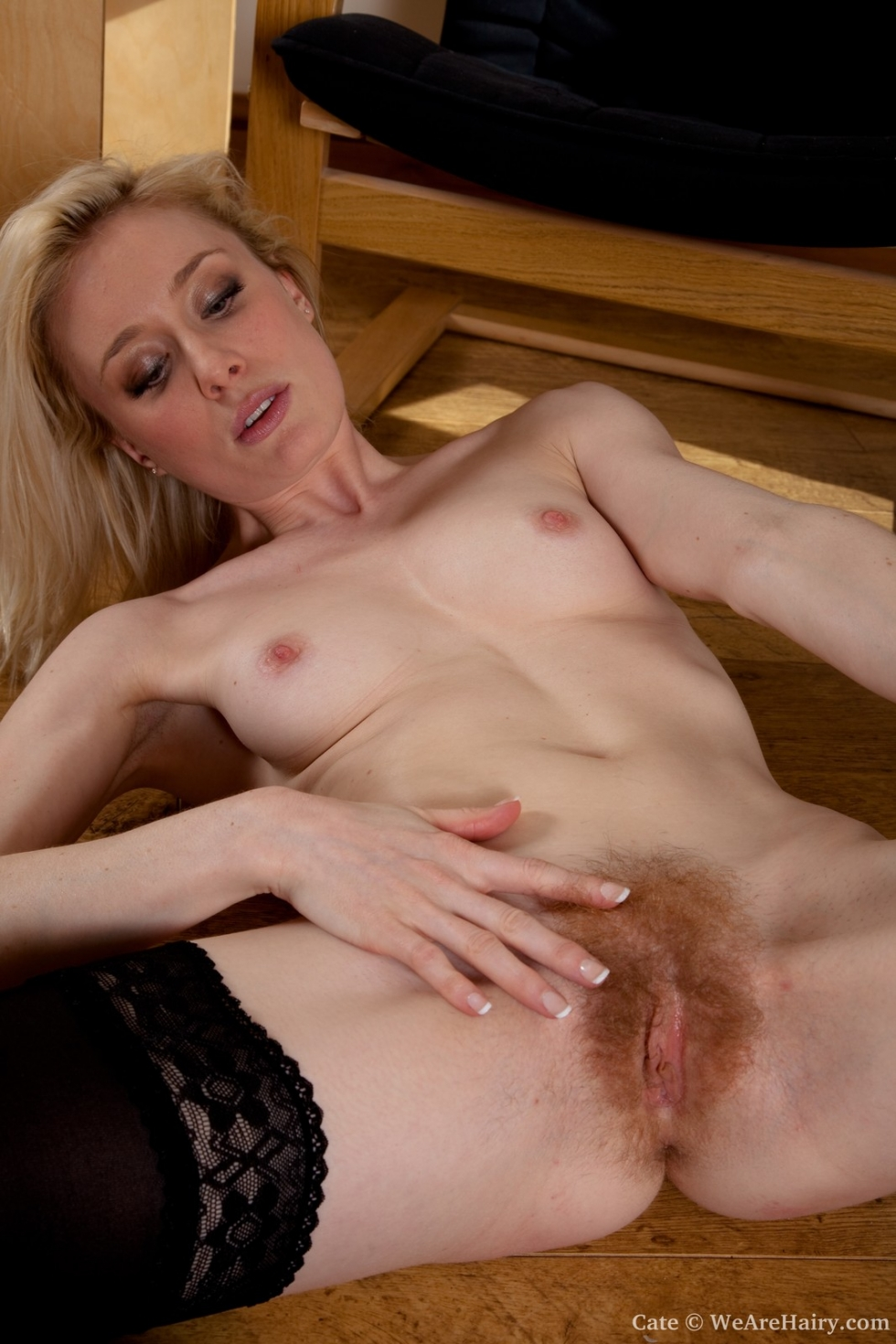 Blonde pussy natural hairy