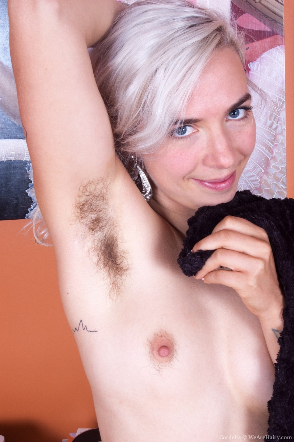 Hairy pussy and underarms