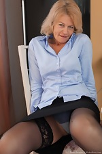 Diana Douglas masturbates at her desk today