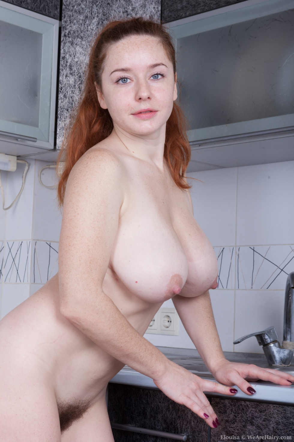 Baby boom strips and masturbates by her mirror 4