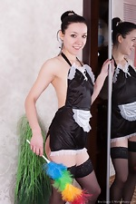 Eva Lisana is a sexy stripping maid
