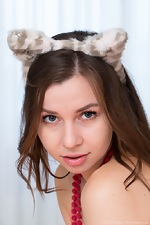 Little Ira Verber masturbates with cat ears