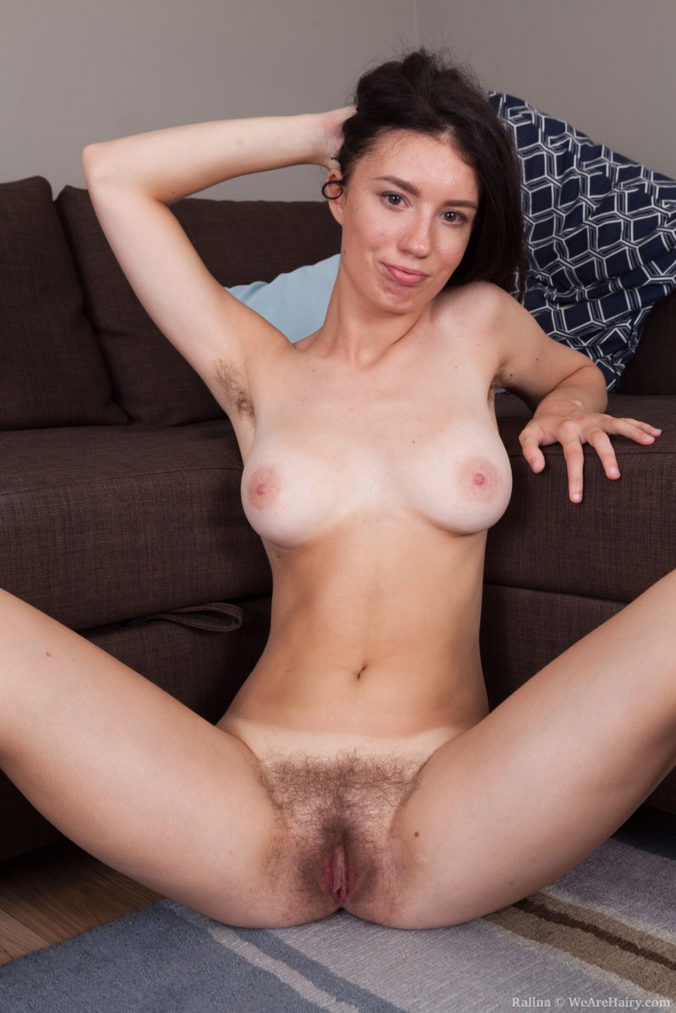 nude selfies on couch