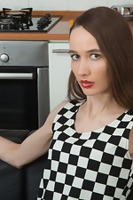 Rose Nore takes off dress and strips in kitchen