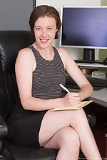 Roxanne strips naked in her office after long day