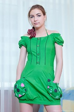 Sabrina the pretty girl in the little green dress