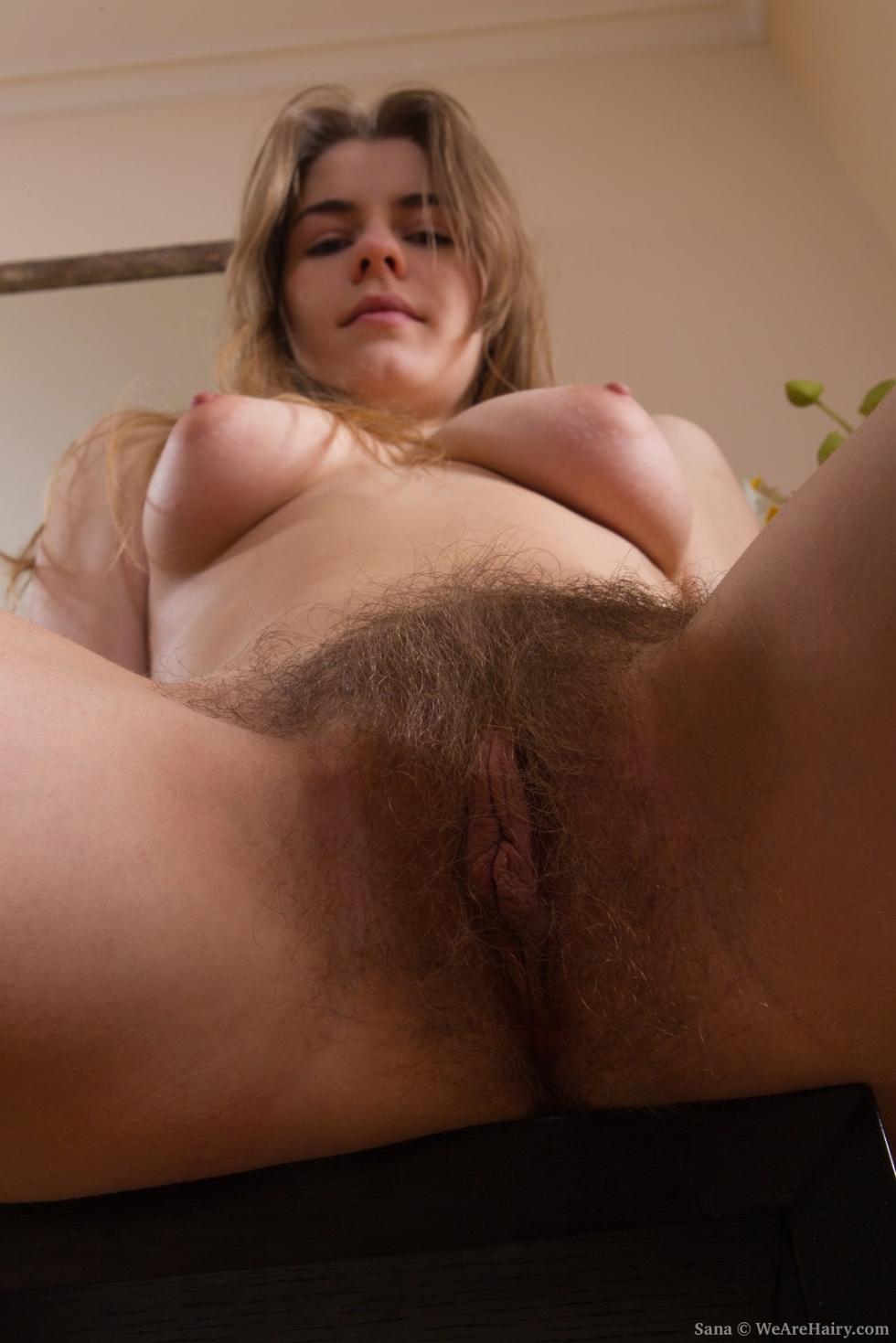 Hairy vixen sana finds pleasure in her bathroom 5