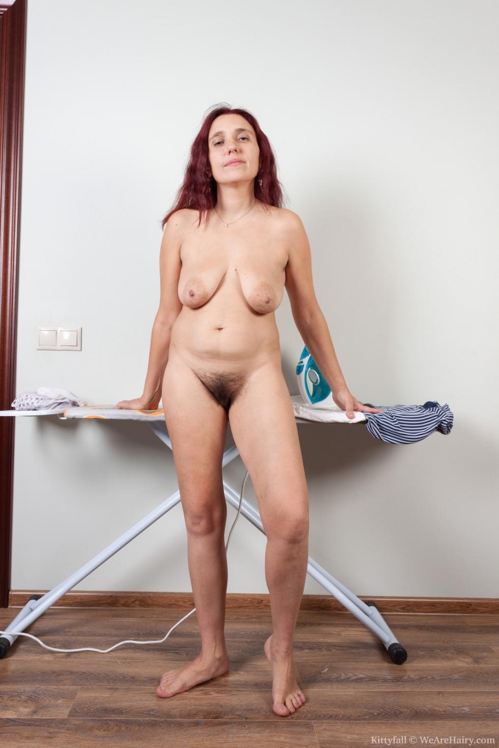 Wearehairy Kittyfall Kittyfall Strips Naked After Ironing